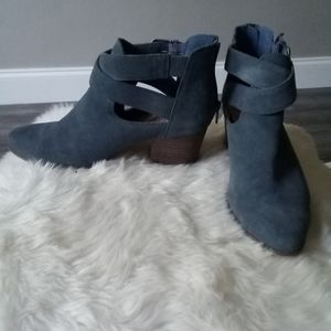 Sole Society Suede Azure Booties